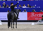 OMAHA, NEBRASKA - APR 1: Isabell Werth celebrates her winning ride during the FEI World Cup Dressage Final II at the CenturyLink Center on April 1, 2017 in Omaha, Nebraska. (Photo by Taylor Pence/Eclipse Sportswire/Getty Images)