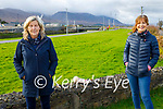 Nuala Finnegan (left) and Dolores O'Callaghan enjoying a stroll in Blennerville on Thursday.