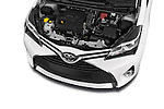 Car Stock 2015 Toyota YARIS Dynamic 5 Door Hatchback 2WD Engine high angle detail view