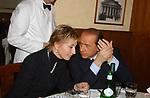 """SILVANA PREVITI CON SILVIO BERLUSCONI<br /> 75° COMPLEANNO DI LINO JANNUZZI - """"DA FORTUNATO AL PANTHEON"""" ROMA 2003"""