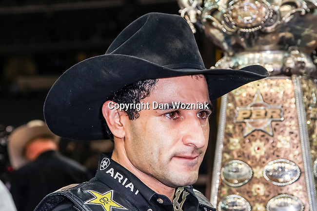 Joao Ricardo Vieira wins the Choctaw Casino Resort Iron Cowboy VI bull riding event, at the AT & T stadium in Arlington, Texas, earning himself $180,000.