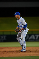 AZL Royals first baseman Diego Maican (13) during an Arizona League game against the AZL Cubs 1 on June 30, 2019 at Sloan Park in Mesa, Arizona. AZL Royals defeated the AZL Cubs 1 9-5. (Zachary Lucy/Four Seam Images)