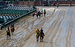 September 2, 2020: Horses prepare for the 2020 Kentucky Derby and Kentucky Oaks at Churchill Downs in Louisville, Kentucky. The race is being run without fans due to the coronavirus pandemic that has gripped the world and nation for much of the year. Scott Serio/Eclipse Sportswire/CSM