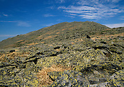 Mount Jefferson from Gulfside Trail in the Presidential Range of the White Mountain National Forest of New Hampshire USA.
