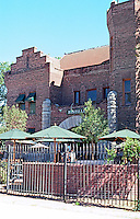 """Hanford CA.: Former jail, 1898. South side of Courthouse Square adjoining Courthouse. Now """"Bastille"""" Bar & Restaurant."""