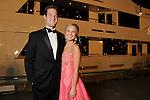 Davidson Douglas and duchess Macey Wegner at the San Luis Salute to Mardi Gras in Galveston Friday Feb. 13,2015.(Dave Rossman Photo)