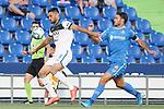 Getafe CF's Jorge Molina (r) and Atalanta BC's Jose Luis Palomino during friendly match. August 10,2019. (ALTERPHOTOS/Acero)