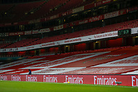 17th December 2020, Emirates Stadium, London, England;  Photo taken on Dec. 16, 2020 shows the empty stands at the Emirates Stadium as London moves into tier three due to rising coronavirus cases, during the English Premier League match between Arsenal and Southampton