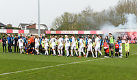 20180414 - AALTER , BELGIUM : Both team line ups pictured during the 21st matchday in the 2e Nationale Women's league , a womensoccer game between Club Brugge Dames and GFA Sinaai , in Aalter , saturday 15 th April 2018 . PHOTO SPORTPIX.BE   DAVID CATRY