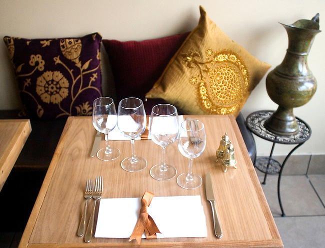 Place Setting, Kazan Restaurant, Belgrovia, London, Great Britain, Europe
