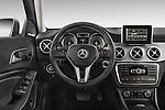 Car pictures of steering wheel view of a2015 Mercedes Benz GLA 250 4Matic Exclusiefpakket 5 Door SUV Steering Wheel