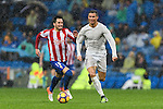 "Cristiano Ronaldo of Real Madrid battles for the ball with Manuel Castellano ""Lillo"" of Real Sporting de Gijon during the La Liga match between Real Madrid and Real Sporting de Gijon at the Santiago Bernabeu Stadium on 26 November 2016 in Madrid, Spain. Photo by Diego Gonzalez Souto / Power Sport Images"