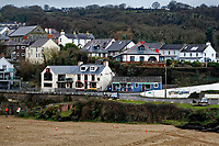 WORDS BY JANE FRYER, DAILY MAIL<br /> Pictured: Aberporth, west Wales, UK. Thursday 21 December 2017<br /> Re: The Welsh coastal village of Aberporth has launched a crusade against single-use plastic products.<br /> The village's general store is selling milk in glass bottles and a pub has replaced plastic drinking straws with paper ones.<br /> Residents launched Plastic-free Aberporth as the UK government's Environment Secretary, Michael Gove, issued his four-point plan for tackling plastic waste.