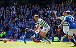 12.05.2019 Rangers v Celtic: Jermain Defoe tumbles in the box