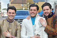 Myles Barnett , Jordan Brook & Jack Ridgen<br /> arriving for filming for the Towie Diwali party at sugar hut brentwood essex <br /> <br /> ©Richard Open snappers