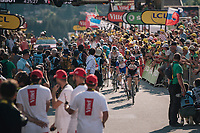 a 2nd group rolling in at the finish<br /> <br /> Stage 10: Annecy > Le Grand-Bornand (159km)<br /> <br /> 105th Tour de France 2018<br /> ©kramon