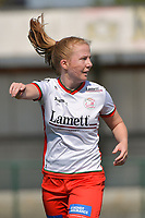 Julie Devos (21) of Zulte Waregem  pictured during a female soccer game between SV Zulte - Waregem and White Star Woluwe on the 10 th and last matchday in play off 2 of the 2020 - 2021 season of Belgian Scooore Womens Super League , saturday 29 of May 2021  in Zulte , Belgium . PHOTO SPORTPIX.BE | SPP | DIRK VUYLSTEKE