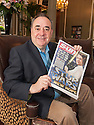 Alex Salmond with a copy of the 30th Apr 2015 edition of The Scottish Sun.