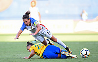 San Diego, CA - Sunday July 30, 2017: Carli Lloyd during a 2017 Tournament of Nations match between the women's national teams of the United States (USA) and Brazil (BRA) at Qualcomm Stadium.