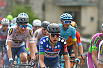 The peloton including mountains jersey holder Kron Andreas Lorentz (DEN) Riwal Readynez Cycling Team during Stage 2 of the Route d'Occitanie 2020, running 174.5km from Carcassone to Cap Découverte, France. 2nd August 2020. <br /> Picture: Colin Flockton | Cyclefile<br /> <br /> All photos usage must carry mandatory copyright credit (© Cyclefile | Colin Flockton)