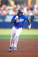 Tulsa Drillers outfielder Yadir Drake (8) running the bases during a game against the Midland RockHounds on June 2, 2015 at Oneok Field in Tulsa, Oklahoma.  Midland defeated Tulsa 6-5.  (Mike Janes/Four Seam Images)