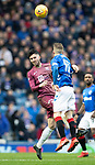 Rangers v St Johnstone…16.02.19…   Ibrox    SPFL<br />Sean Goss and Steven Davis<br />Picture by Graeme Hart. <br />Copyright Perthshire Picture Agency<br />Tel: 01738 623350  Mobile: 07990 594431