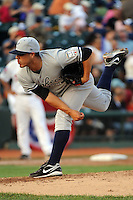 Staten Island Yankees pitcher Manny Barreda (38) during game against the Brooklyn Cyclones at MCU Park in Brooklyn, NY June 19, 2010. Cyclones won 9-6.  Photo By Tomasso DeRosa/Four Seam Images