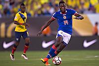 Action photo during the match Ecuador vs Haiti at MetLife Stadium Copa America Centenario 2016. ---Foto  de accion durante el partido Ecuador vs Haiti, En el Estadio MetLife Partido Correspondiante al Grupo - B -  de la Copa America Centenario USA 2016, en la foto: James Marcelin<br /> <br /> -- 12/06/2016/MEXSPORT/Javier Ramirez.