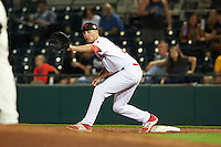 Scottsdale Scorpions Mitch Walding (31), of the Philadelphia Phillies organization, during a game against the Glendale Desert Dogs on October 14, 2016 at Scottsdale Stadium in Scottsdale, Arizona.  Scottsdale defeated Glendale 8-7.  (Mike Janes/Four Seam Images)