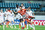 Jeju United Defender Kim Wonil (R) fights for the ball with Adelaide United Forward Papa Babacar Diawara (L) during the AFC Champions League 2017 Group Stage - Group H match between Jeju United FC (KOR) vs Adelaide United (AUS) at the Jeju World Cup Stadium on 11 April 2017 in Jeju, South Korea. Photo by Marcio Rodrigo Machado / Power Sport Images