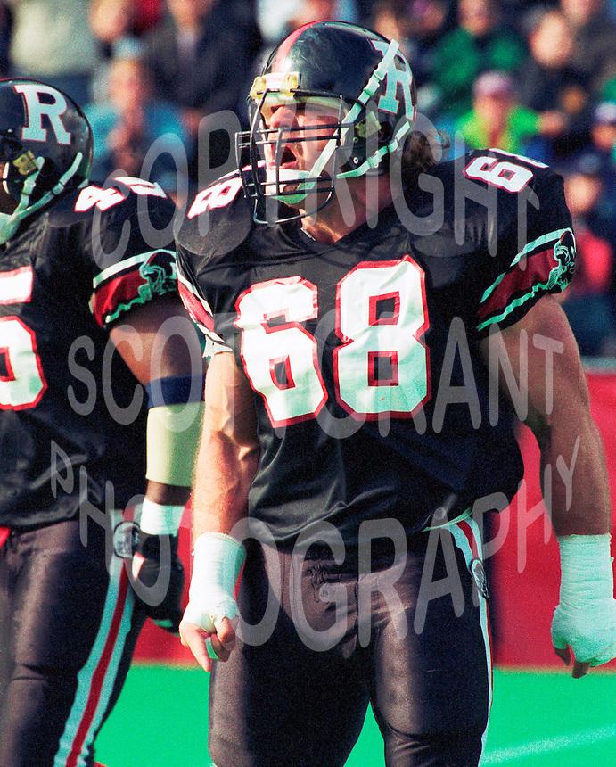 Glenn Kulka Ottawa Rough Riders 1991. Copyright photograph Scott Grant