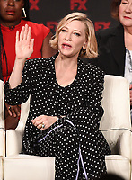 """PASADENA, CA - JANUARY 9: Executive Producer/cast member Cate Blanchett attends the panel for """"Mrs. America"""" during the FX Networks presentation at the 2020 TCA Winter Press Tour at the Langham Huntington on January 9, 2020 in Pasadena, California. (Photo by Frank Micelotta/FX Networks/PictureGroup)"""