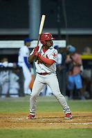 Johnson City Cardinals pinch-hitter William Jimenez (32) at bat against the Burlington Royals at Burlington Athletic Stadium on September 4, 2019 in Burlington, North Carolina. The Cardinals defeated the Royals 8-6 to win the 2019 Appalachian League Championship. (Brian Westerholt/Four Seam Images)