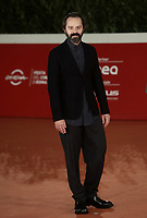 "Italian actor Sergio Romano poses on the red carpet for the screening of the film ""Romulus"" during the 15th Rome Film Festival (Festa del Cinema di Roma) at the Auditorium Parco della Musica in Rome on October 24, 2020.<br />