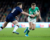 Saturday 1st February 2020 | Ireland vs Scotland<br /> <br /> Jordan Larmour during the 2020 6 Nations Championship   clash between Ireland and Scotland at he Aviva Stadium, Lansdowne Road, Dublin, Ireland. Photo by John Dickson / DICKSONDIGITAL