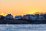 A cold winter morning in Marblehead, Massachusetts, USA