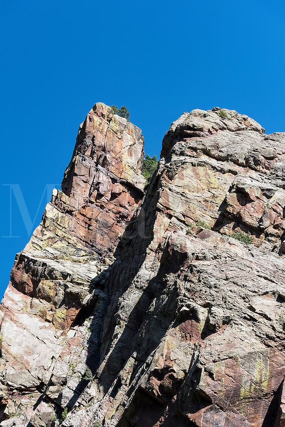 Steep rock formation, Eldorado Canyon State Park, Colorado, USA