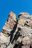 Steep rock formation, Eldorado Canyon State Park, Colorado, USA
