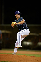 Joseph Charles during the WWBA World Championship at the Roger Dean Complex on October 19, 2018 in Jupiter, Florida.  Joseph Charles is a right handed pitcher from Celebration, Florida who attends The First Academy and is committed to North Carolina.  (Mike Janes/Four Seam Images)