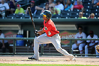Fort Wayne TinCaps outfielder Mallex Smith (3) during a game against the Great Lakes Loons on August 18, 2013 at Dow Diamond in Midland, Michigan.  Fort Wayne defeated Great Lakes 4-3.  (Mike Janes/Four Seam Images)