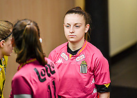 Chrystal Lermusiaux (2) of Sporting Charleroi pictured during a female soccer game between RSC Anderlecht Dames and Sporting Charleroi on the 13 th matchday of the 2020 - 2021 season of Belgian Womens Super League , friday 5 th of February 2021  in Tubize , Belgium . PHOTO SPORTPIX.BE | SPP | DAVID CATRY