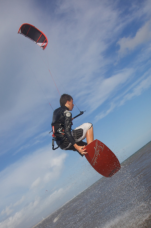 Kitesurfing in Lancing with Dan Sweeney and Daniel Morrice riding Cabrinha Nomad and Nobile kites