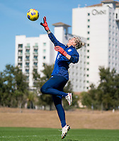 ORLANDO, FL - JANUARY 20: Jane Campbell #24 of the USWNT makes a save during a training session at the practice fields on January 20, 2021 in Orlando, Florida.