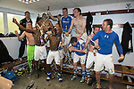 St Johnstone v Motherwell.....19.05.13      SPL.St Johnstone players celebrate a in the dressing room.Picture by Graeme Hart..Copyright Perthshire Picture Agency.Tel: 01738 623350  Mobile: 07990 594431