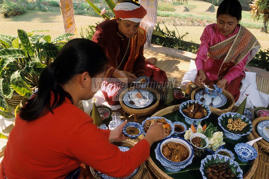 """Asie/Thaïlande/Env de Chiang Mai : Réception à la """"Mae Sa Valley Resort"""" - Le repas"""