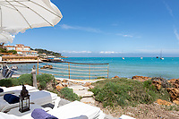BNPS.co.uk (01202 558833)<br /> Pic: CapVillas/BNPS<br />  <br /> The ocean view<br /> <br /> A glamorous villa that has hosted a string of celebrities including Winston Churchill, Pablo Picasso, the Duke of Windsor and Edith Piaf is on the market for £9m (10.5m euros).<br /> <br /> The exquisite Villa La Garoupe Beach sits on a natural sand beach and has its own private beach on one of the French Riviera's most exclusive spots.<br /> <br /> It was once a renowned beach club and the list of names connected to the property are endless. French singer Edith Piaf hosted her engagement party to Theo Sarapo there and it was also visited by former US President Harry Truman, writer Ernest Hemingway, Bond actor Sean Connery and movie star Marlene Dietrich.<br /> <br /> The property in Cap d'Antibes has four bedrooms suitable for six to eight people, three bathrooms and a living area overlooking the sea.