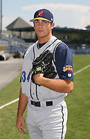 2007:  Harrison Bishop of the State College Spikes poses for a photo prior to a game vs. the Batavia Muckdogs in New York-Penn League baseball action.  Photo By Mike Janes/Four Seam Images