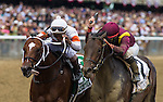 June 6, 2015: March (inside) with Irad Ortiz, Jr. up win the Woody Stephens at Belmont Park in Elmont, York. Zoe Metz/ESW/CSM