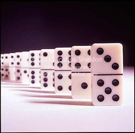 Still life of dominos