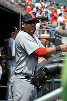 St. Louis Cardinals catcher Gerald Laird #13 during a game against the New York Mets at Citi Field on July 21, 2011 in Queens, NY.  Cardinals defeated Mets 6-2.  Tomasso DeRosa/Four Seam Images